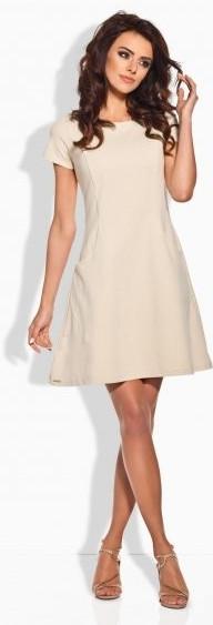 Dámské šaty L142 - Lemoniade Barva: béžová, Velikost: S