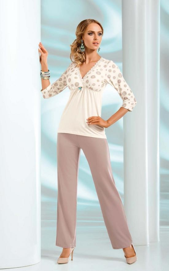 Pyžamo Fabia - Donna Barva: krémová, Velikost: M
