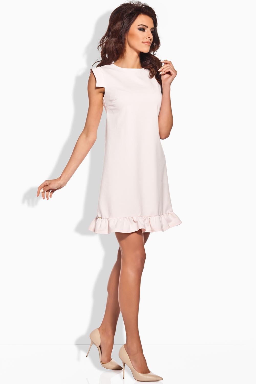 Dámské šaty L139 - Lemoniade Barva: pudrová růže, Velikost: S