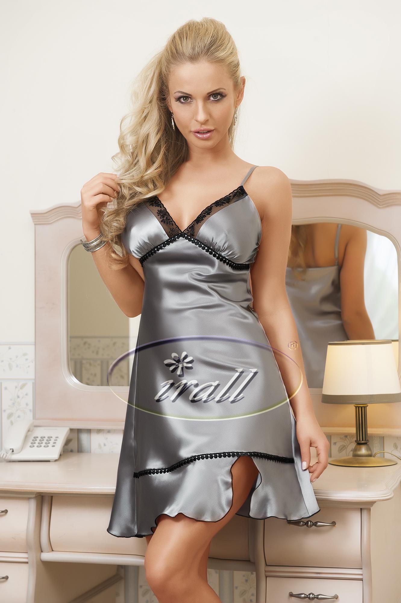 Noční košilka model 46700 Irall Barva: stříbrná, Velikost: L