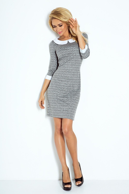 Denní šaty model 60516 Numoco Barva: šedá, Velikost: M