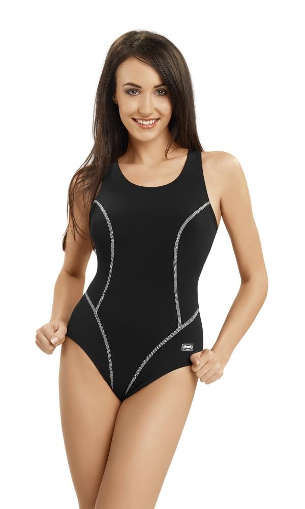 Dámské jednodílné plavky OLA - Gwinner Barva: černá, Velikost: 42