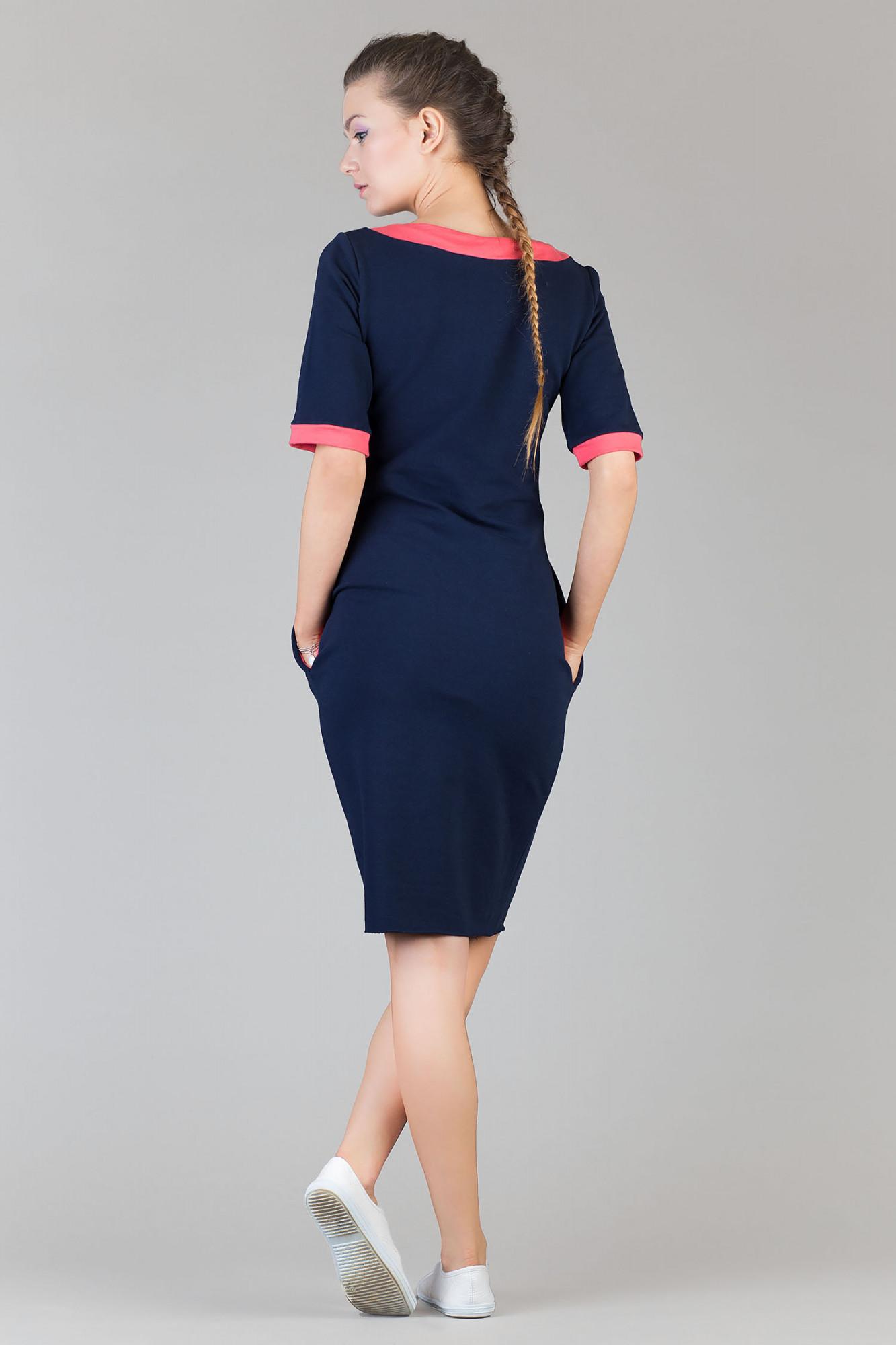 Denní šaty model 42666 Tessita Barva: granatová - koralová, Velikost: 3XL