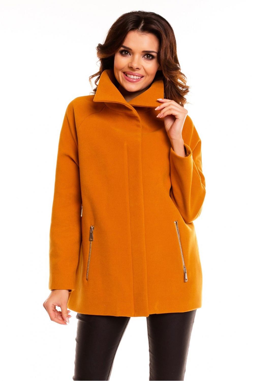 Dámský krátký kabát- bunda model 63542 - Cabba Barva: černá, Velikost: 44
