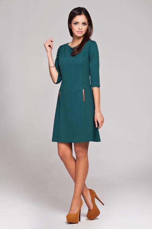 Denní šaty model 27974 Figl Barva: tmavě modrá, Velikost: 38