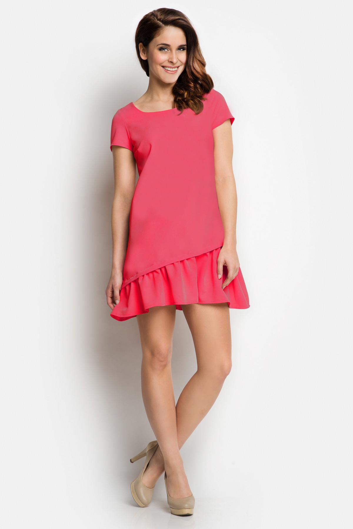 Denní šaty model 43205 Awama Barva: růžová, Velikost: L