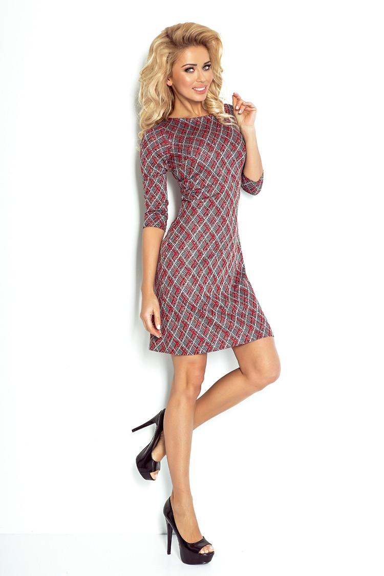 Denní šaty model 52409 Numoco Barva: černo-červená, Velikost: M