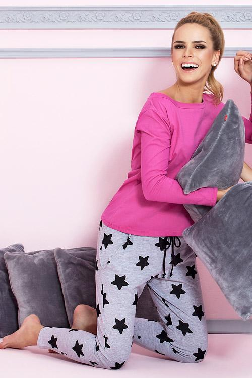 Dámské pyžamo P-504/1 - Pigeon Barva: růžová, Velikost: XL