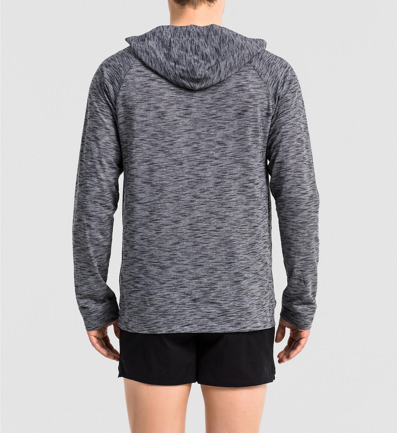 Pánská mikina NM1374E - Calvin Klein Barva: šedý melír, Velikost: L
