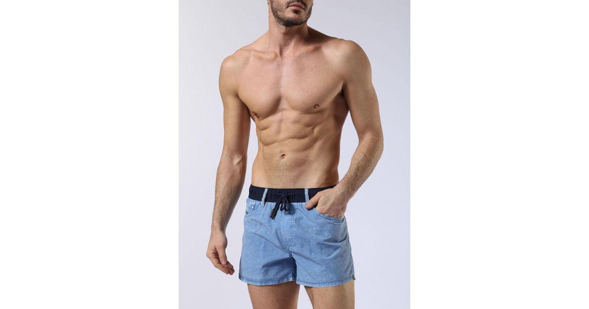 Pánské plavky 00SV9W-0JANW - Diesel Barva: jeans, Velikost: XL