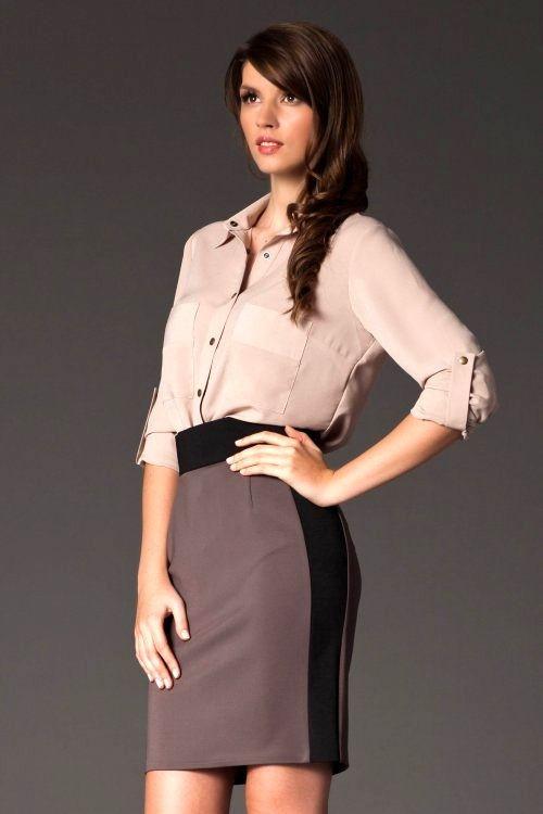 Dámská sukně M139 Figl Barva: béžová, Velikost: 36