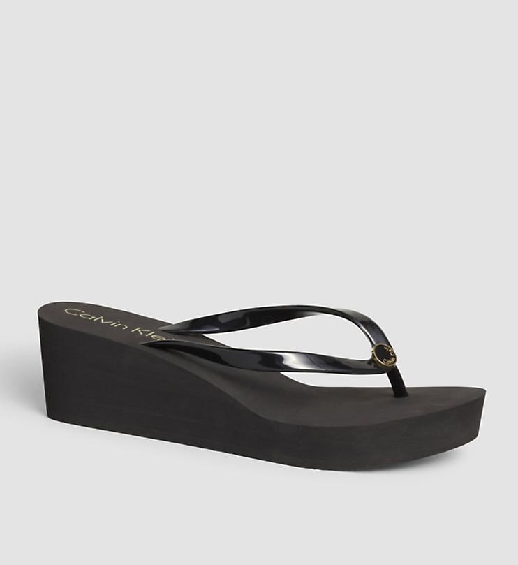 Dámská plážová obuv KWOKWOOO69 - Calvin Klein Barva: černá, Velikost: 41