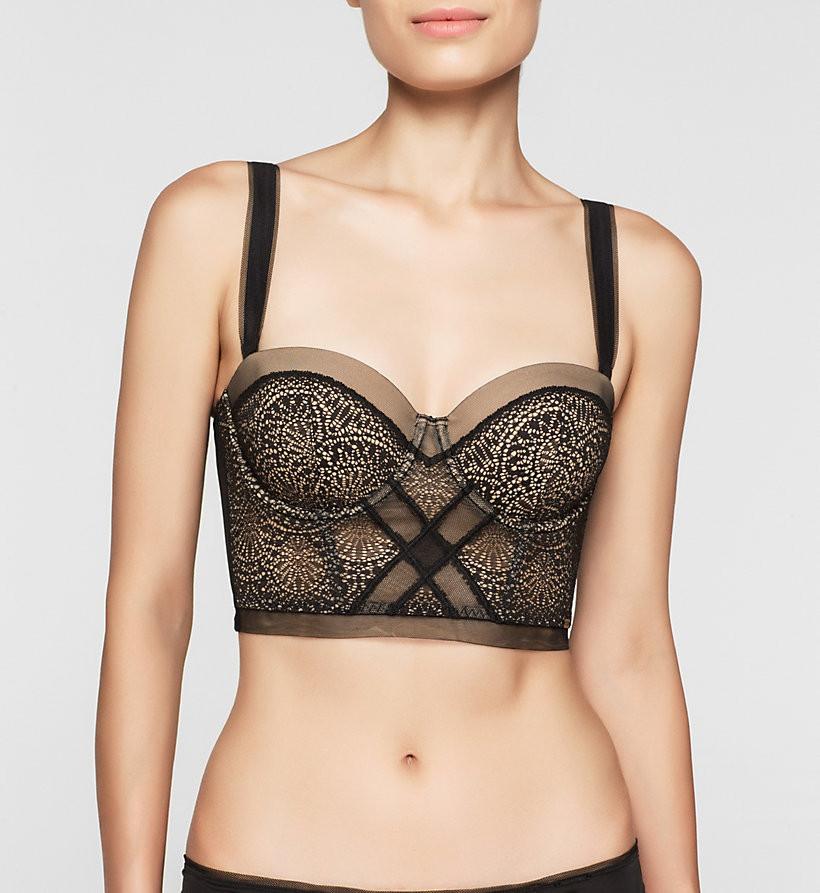 Podprsenka korzetová QF1876E Black Endless - Calvin Klein Barva: černá, Velikost: 75D