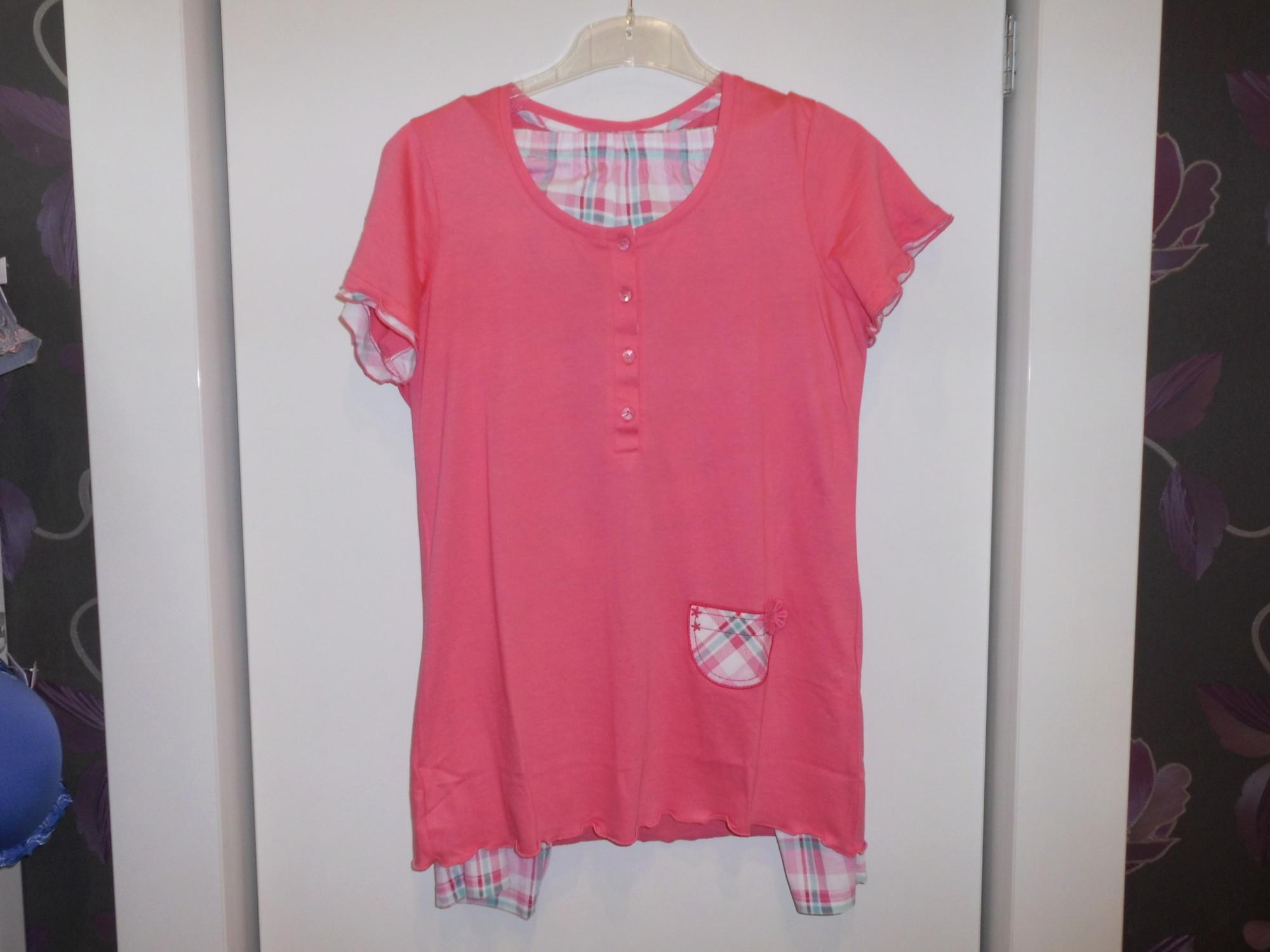 Dámské pyžamo 3106 -Vamp Barva: růžová kostky, Velikost: S