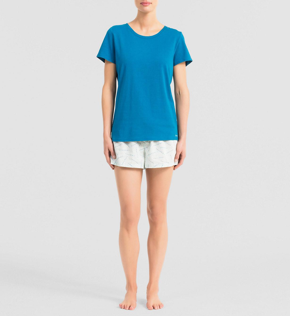 Dámské pyžamo QS5470E - Calvin Klein Barva: bílá-potisk, Velikost: M