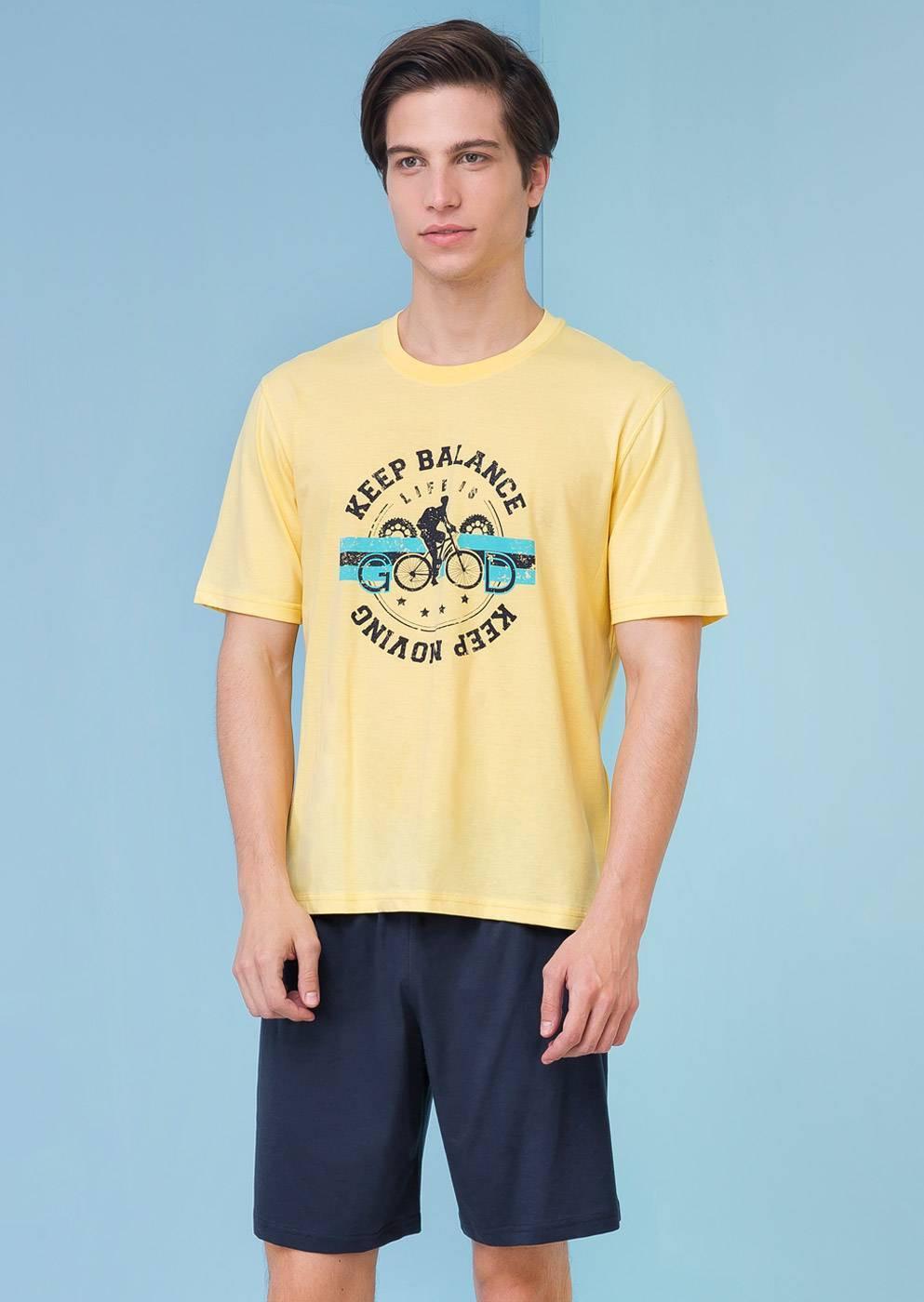 Pánské pyžamo 3205 - Vamp Barva: žlutá, Velikost: M