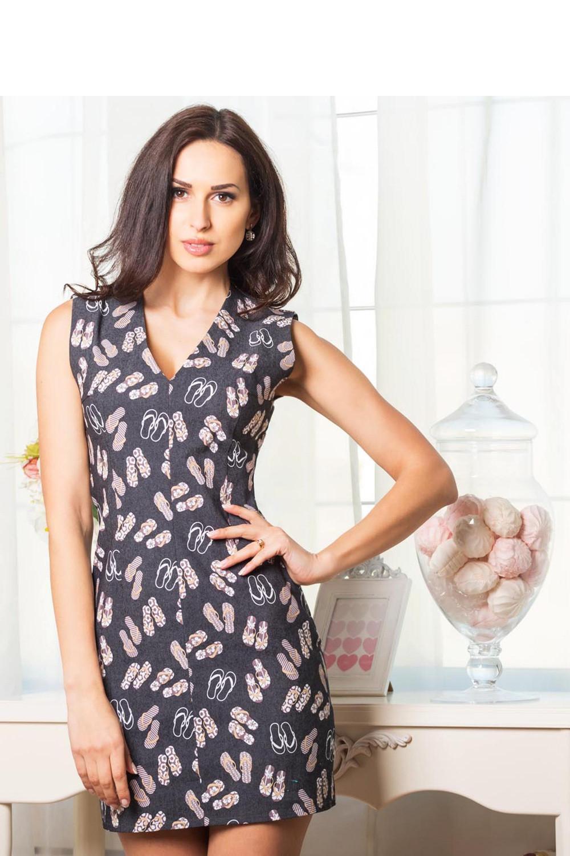 Denní šaty model MM1138 Mira Mod Barva: šedá, Velikost: 42