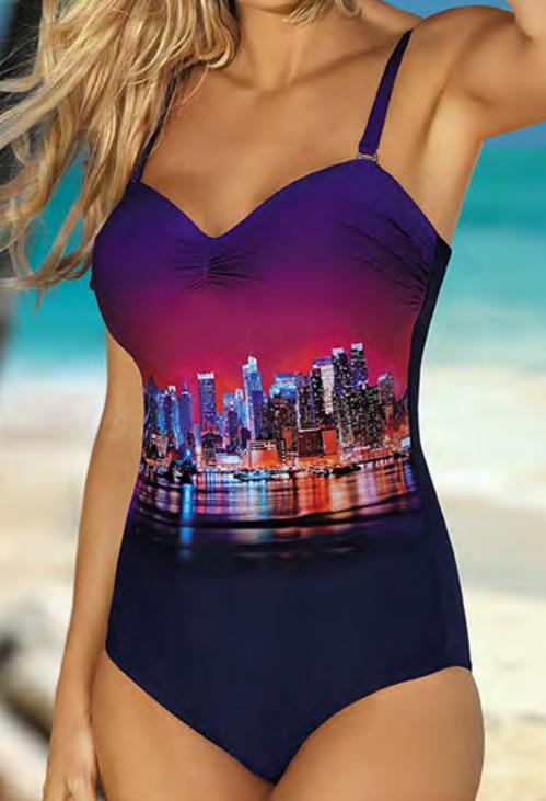 Jednodílné dámské plavky S8030X17 Self Barva: originál, Velikost: 42D/E