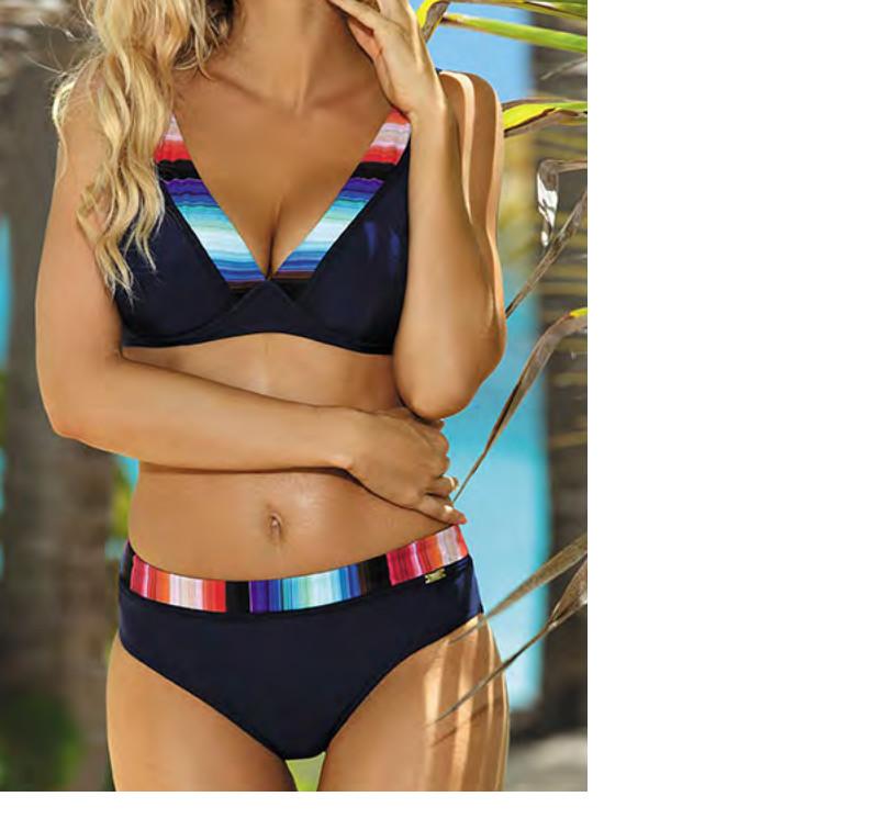 Dvoudílné dámské plavky S115P17 Self Barva: černá, Velikost: 44E
