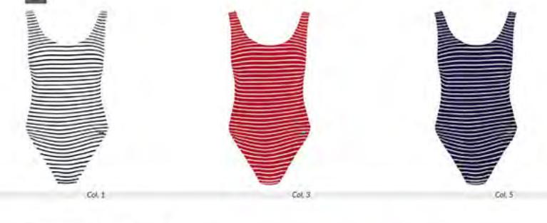 Jednodílné dámské plavky S999M6 Self Barva: bílá, Velikost: 38