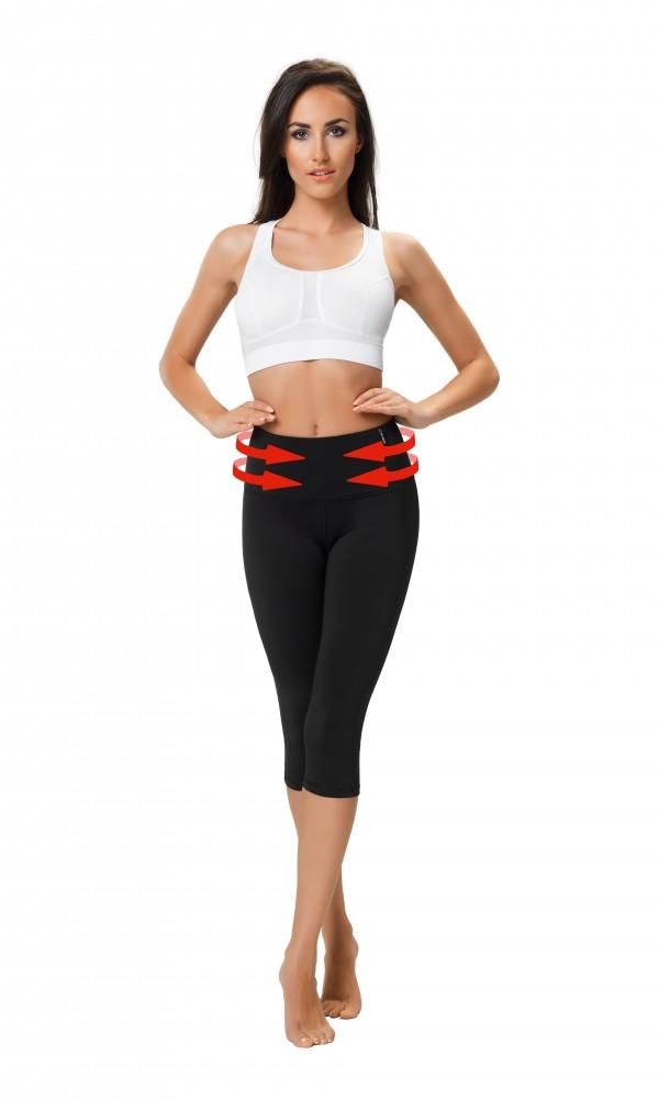 Legíny Shape & Slim Capri Climaline -. Gwinner Barva: černá, Velikost: L