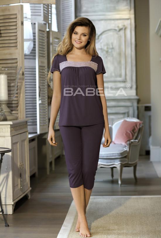 Dámské pyžamo Delfina Babella Barva: korálová, Velikost: 3XL