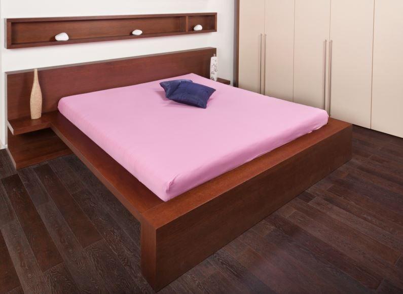Bavlněné prostěradlo Jersey 180x200 Smolka Barva: růžova, Velikost: 180x200