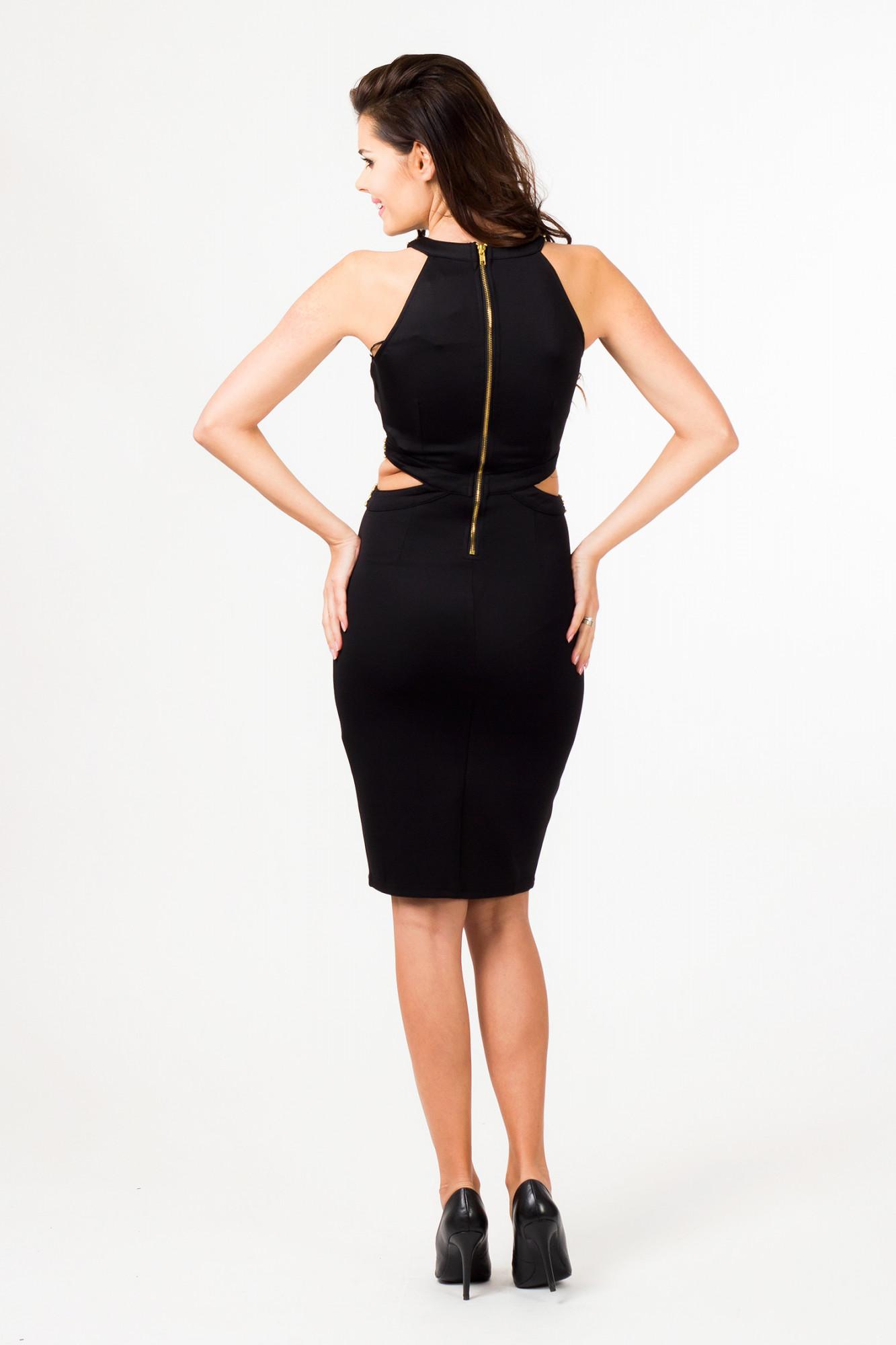 Večerní šaty model 580711 36403 Depare Barva: černá, Velikost: L