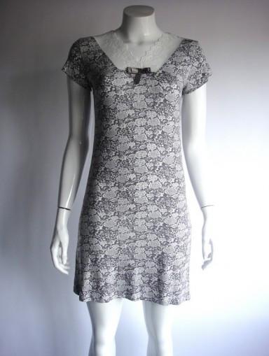 Dámská noční košile COC 1900 KG Cocoon Barva: černo-bílá, Velikost: 3XL