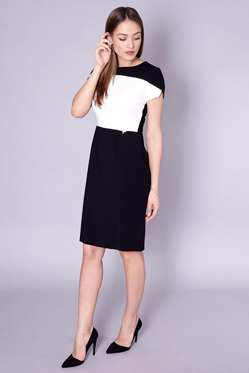 Dámské šaty 60-064 - Click Fashion černo - bílá 38