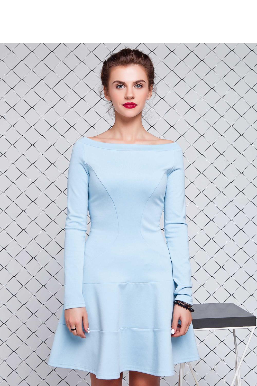 Denní šaty model 74906 - GrandUA Barva: sv.modrá, Velikost: 44