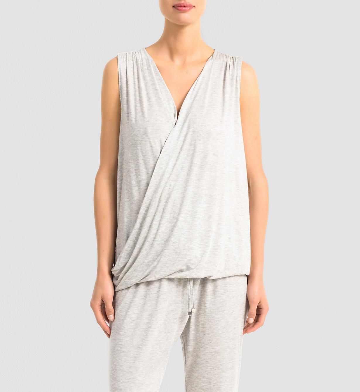 Dámské tričko Release QS5715E - Calvin Klein Barva: modrá, Velikost: S