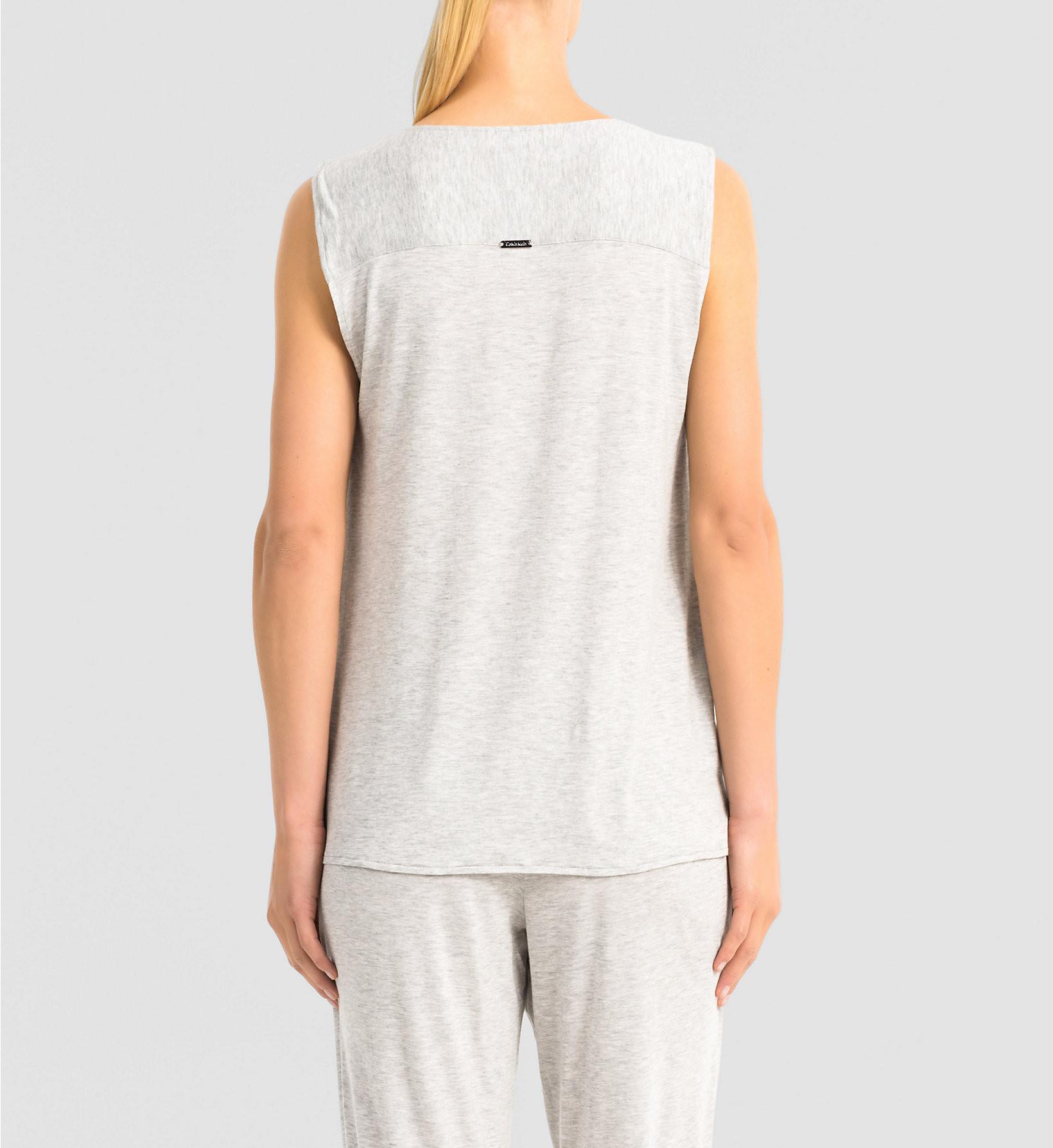 Dámské tričko Release QS5715E - Calvin Klein Barva: šedá, Velikost: S