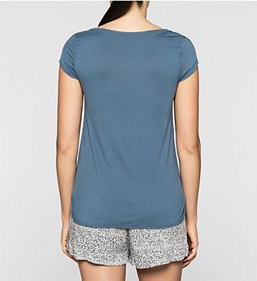 Dámské tričko QS5253E - Calvin Klein Barva: modrá, Velikost: L