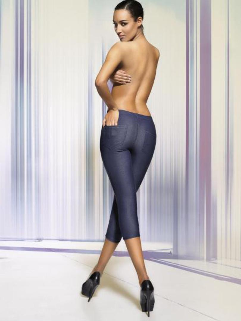 Dámské legíny ALESTA - DAREX Barva: jeans, Velikost: M