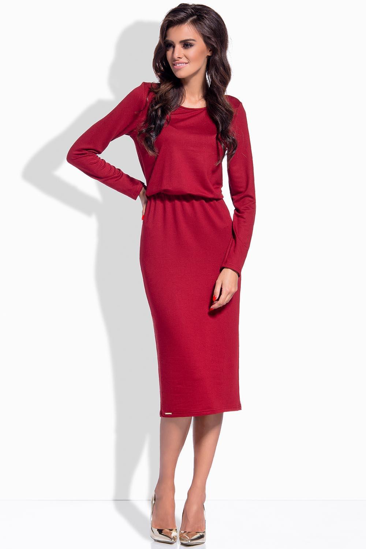 Denní šaty L149 - Lemoniade Barva: bordo, Velikost: S