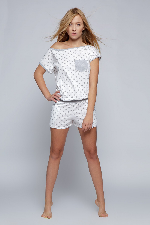 Pyžamo overál Littele Star - Sensis Barva: šedo-bílá, Velikost: L/XL