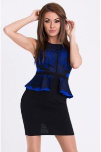 Dámské šaty 2476 - Emamoda černá-modrá M