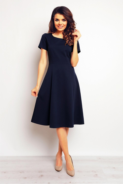 Denní šaty model 61213 - Infinite You Barva: tm.modrá, Velikost: 40/L