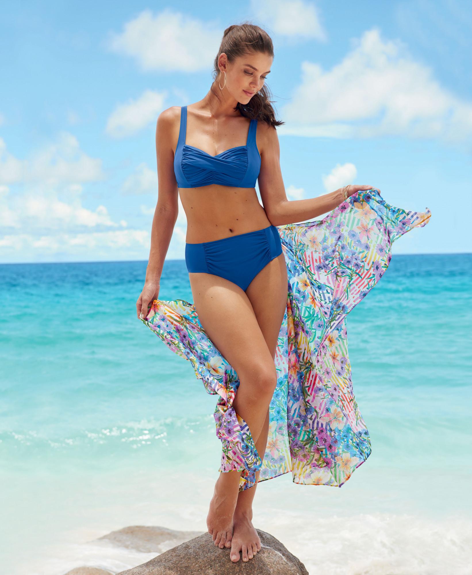 Dvoudílné plavky Elle L7 8460 - Anita Barva: modrá, Velikost: 38=75