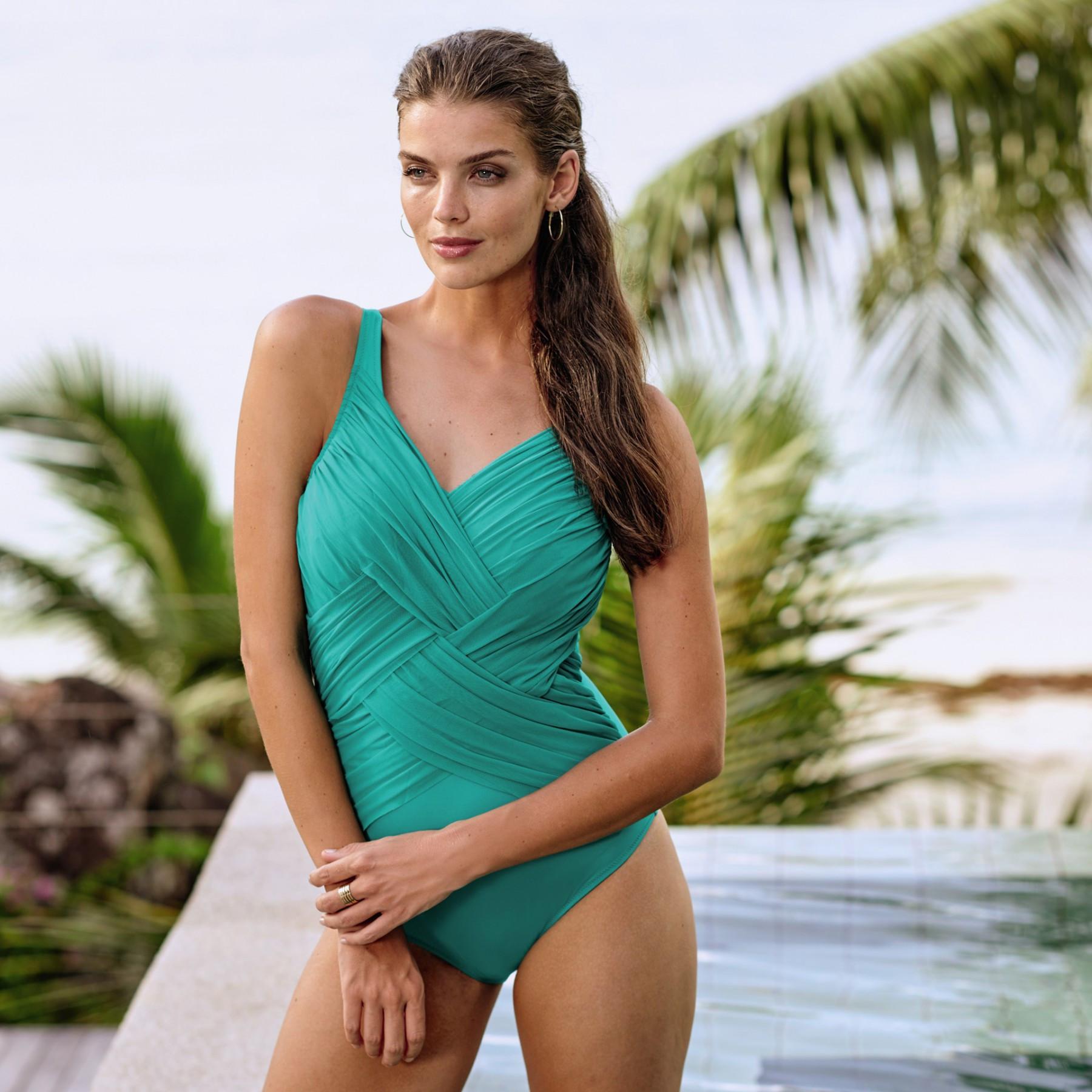 Jednodílné plavky Aileen L7 7210 - Anita Barva: zelená, Velikost: 38=75