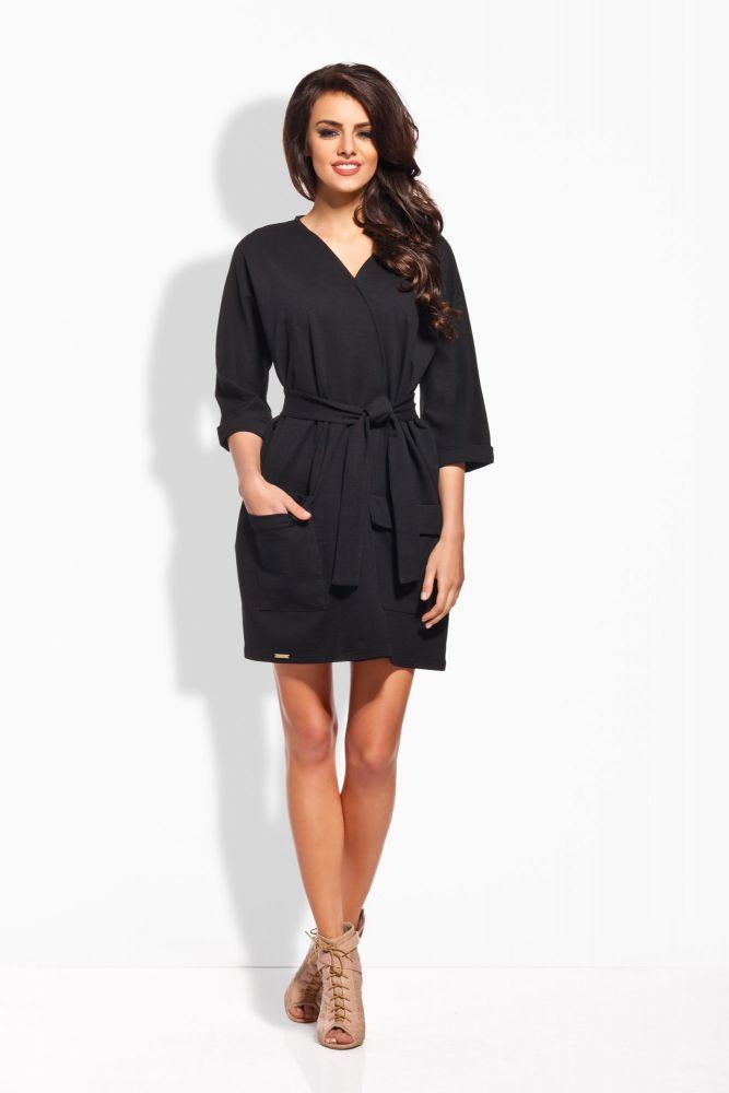 Dámské šaty L121 - Lemoniade Barva: černá, Velikost: S