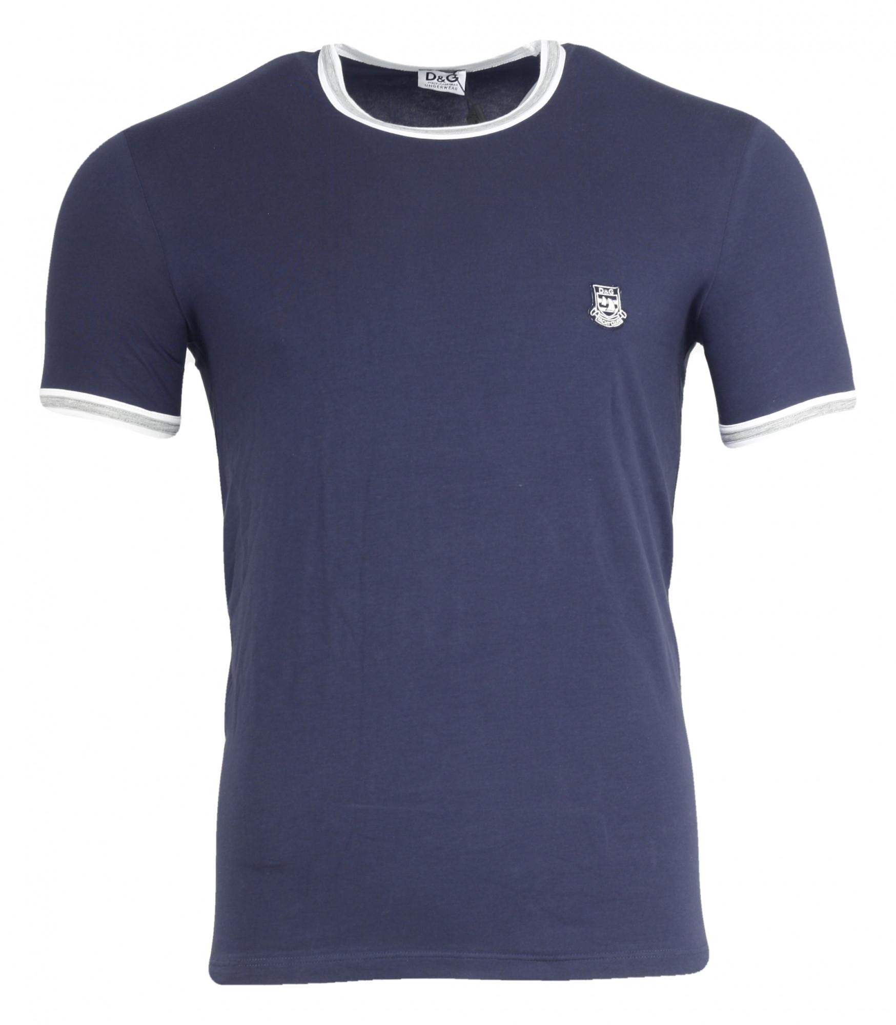 Pánské tričko M30783 - Dolce Gabbana Barva: modrá, Velikost: L