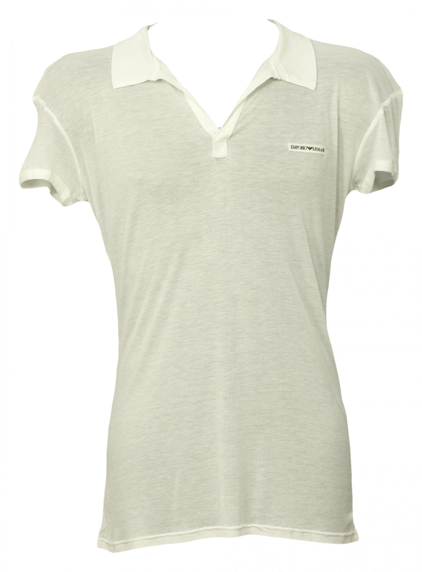 Pánské tričko 9S449 - Emporio Armani Barva: bílá, Velikost: 54