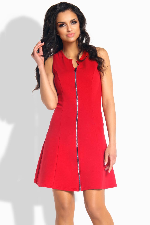 Dámské šaty L183 - Lemoniade Barva: červená, Velikost: M