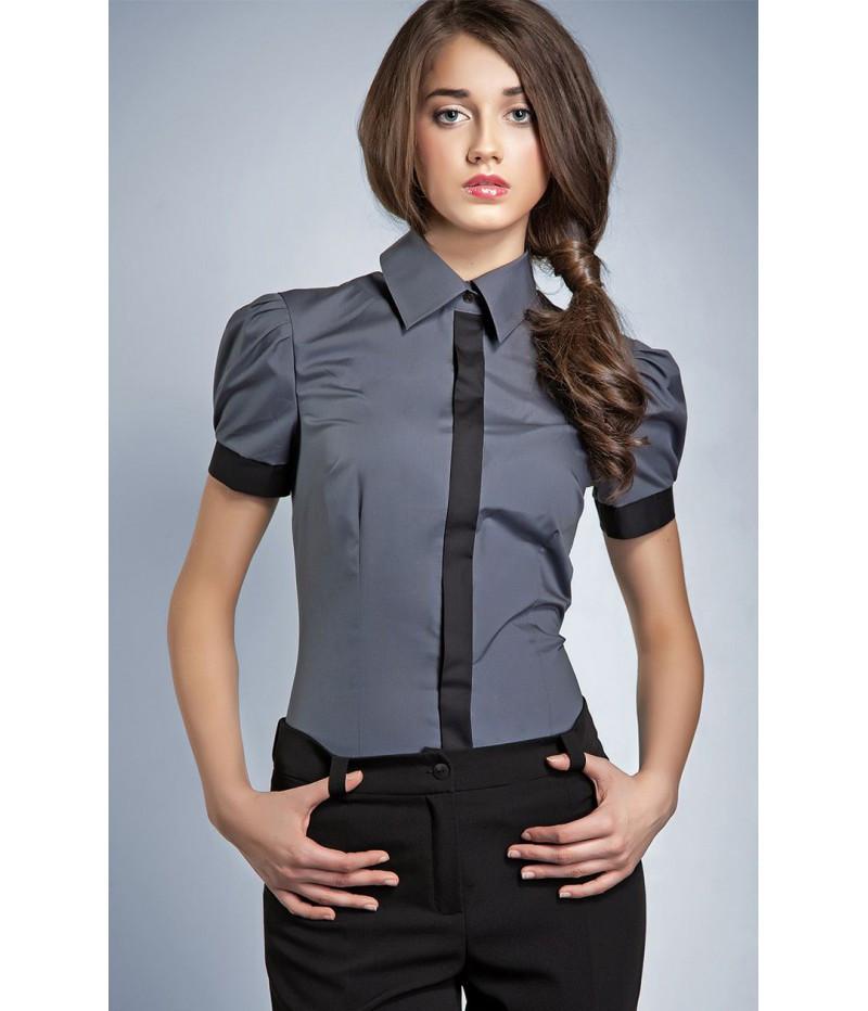 Dámská košile 20205 - Nife Barva: šedá, Velikost: 36