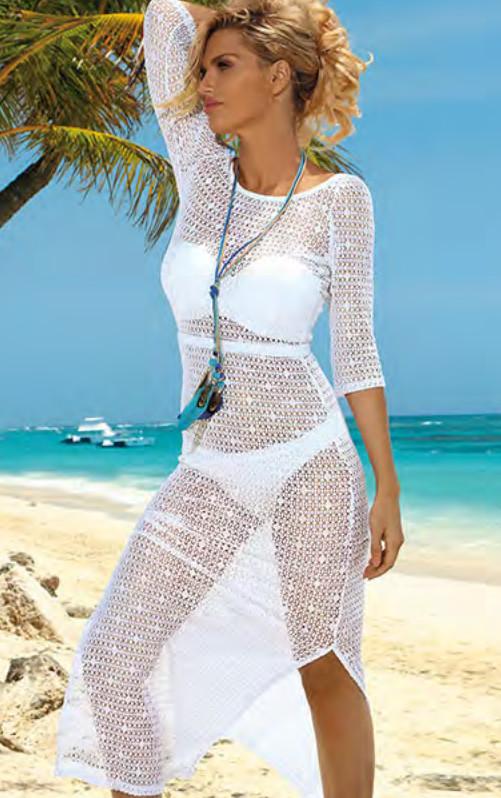 Dámské plážové šaty D49 Self Barva: černá, Velikost: XL/XXL