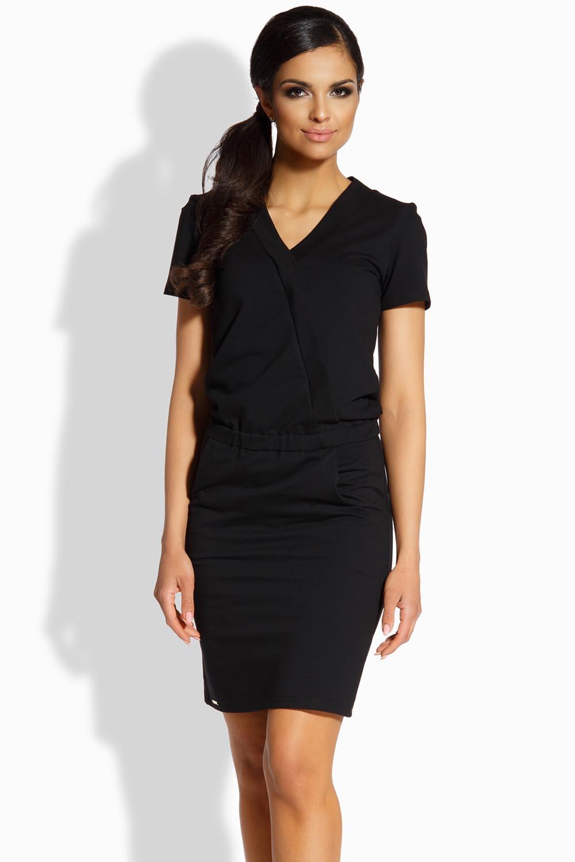 Dámské šaty L196 - Lemoniade Barva: černá, Velikost: S