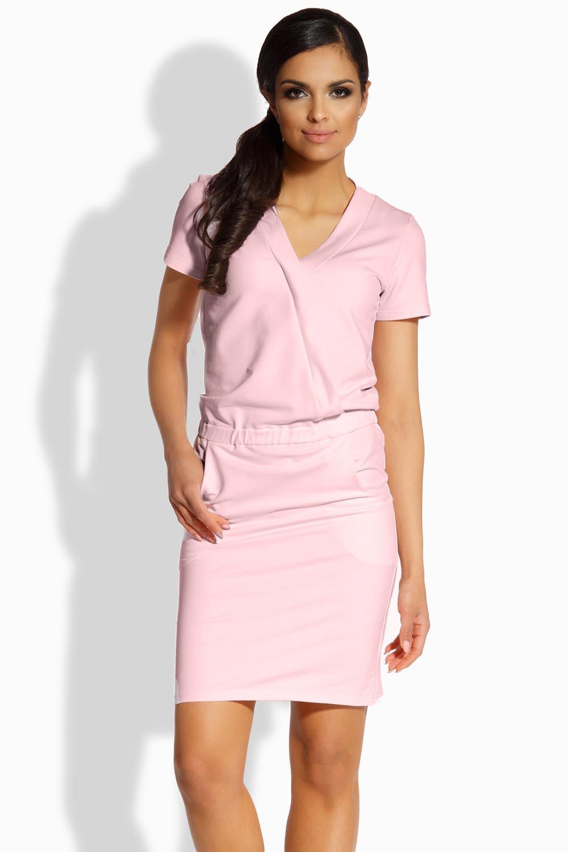 Dámské šaty L196 - Lemoniade Barva: růžová, Velikost: S