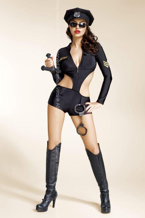 Sexy kostým Zoe - Jamais Vecu Barva: černá, Velikost: L/XL